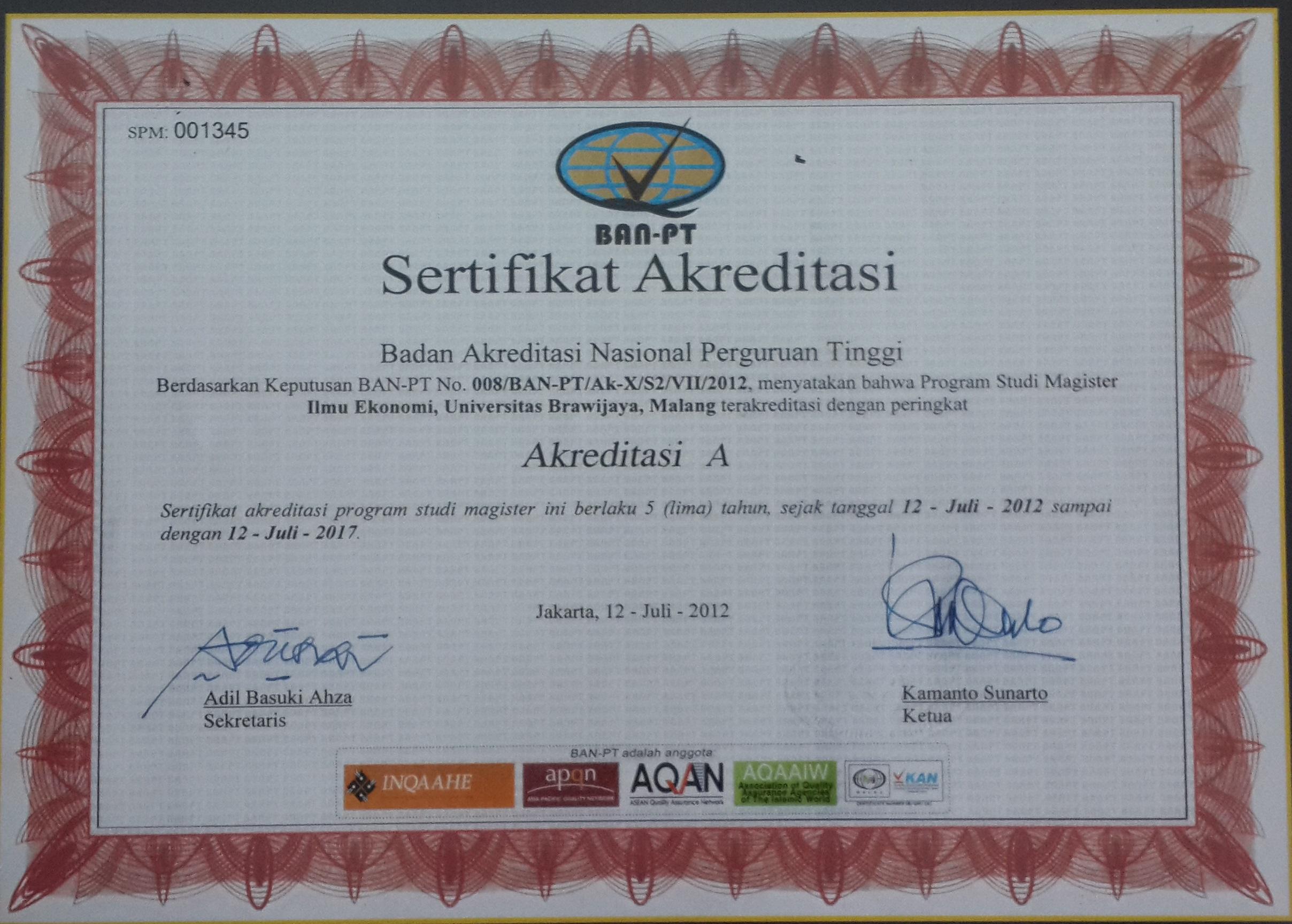 sertifikat akreditasi pmie